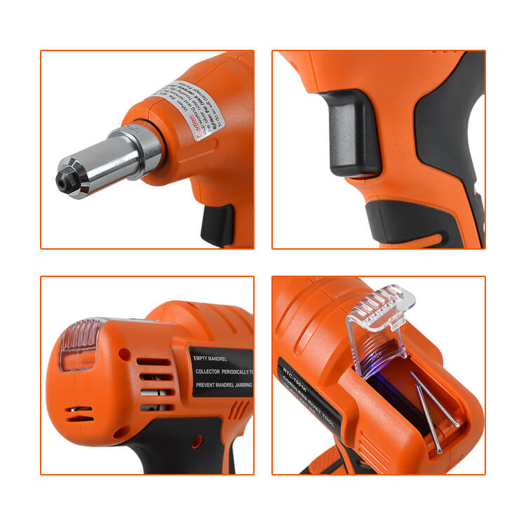 KD-02 14.4V Rivet Gun Cordless Rivet Tool Set